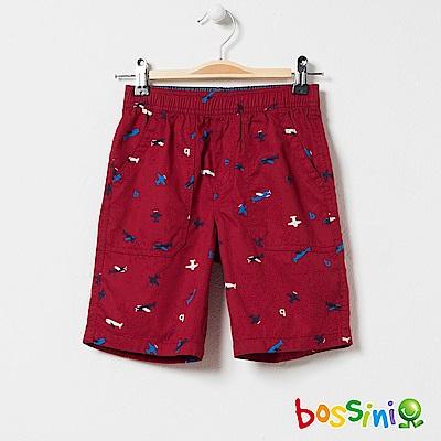 bossini男童-印花輕便短褲05暗紅