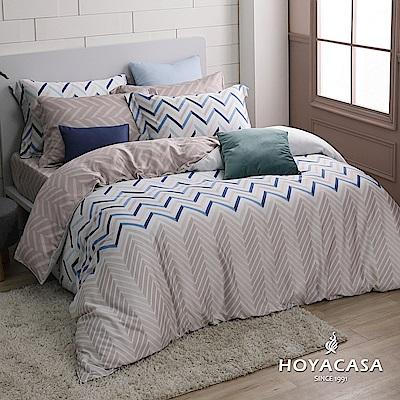 HOYACASA時光旅人 加大四件式抗菌60支天絲兩用被床包組
