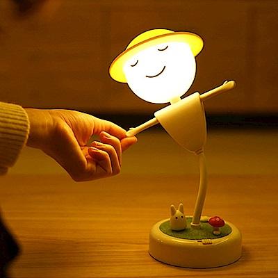 半島良品 守護你稻草人景觀夜燈- 黃光款