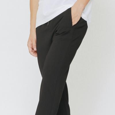 H:CONNECT 韓國品牌 男裝-抽繩鬆緊長褲-黑(快)