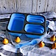 Homely Zakka 伸縮收納矽膠分隔保鮮便當餐盒-藍色 product thumbnail 1
