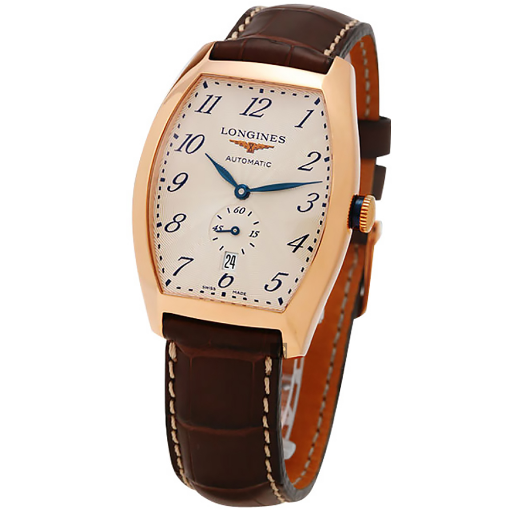 LONGINES 18K典藏玫瑰金機械腕錶 L26428732