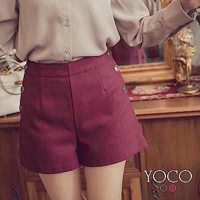 東京著衣-yoco 美腿滿分百搭排釦修身短褲-S.M.L(共二色)