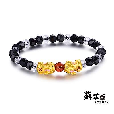 蘇菲亞SOPHIA - 開運系列可愛貔貅黃金手環(黑)