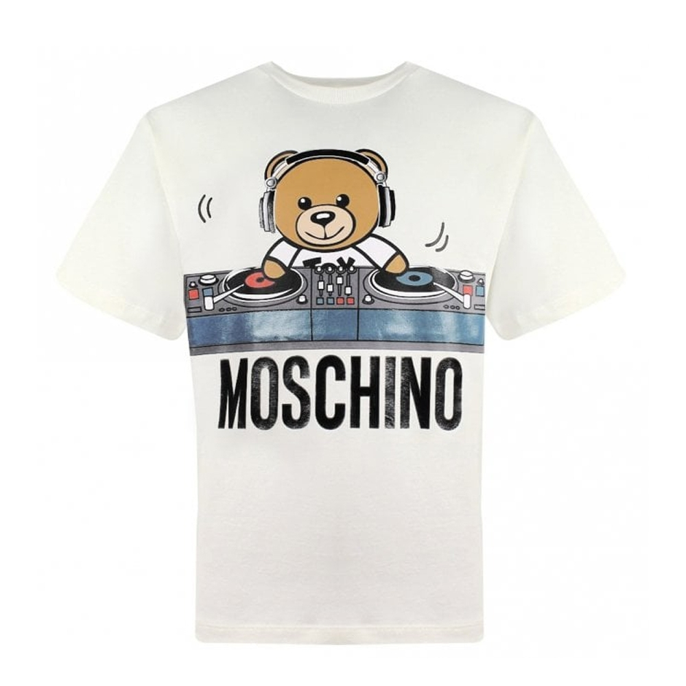 Moschino DJ泰迪白色T-Shirt