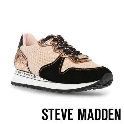 STEVE MADDEN-REFORM 拼接彈性休閒運動女鞋-金色
