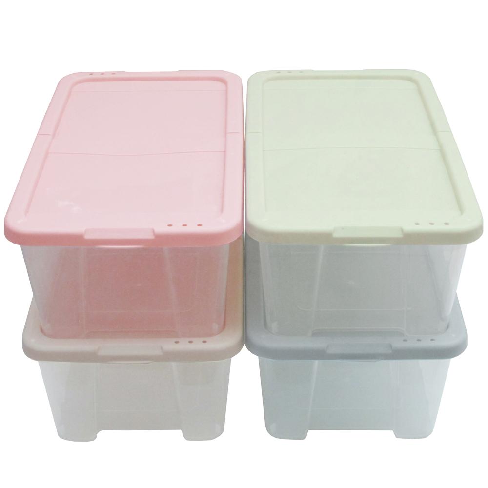 月陽多用途半透明鞋盒收納盒整理盒超值4入(PP84)