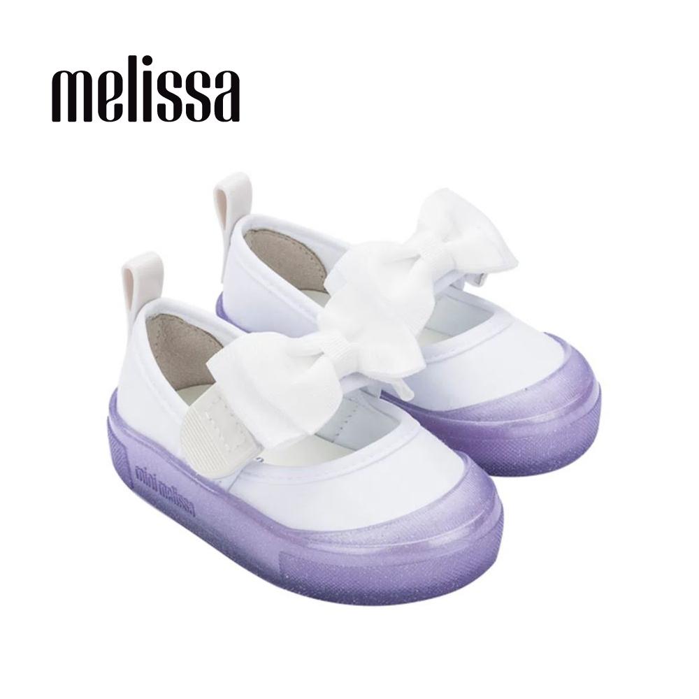 Melissa Basic經典蝴蝶結撞色娃娃鞋 寶寶款-白