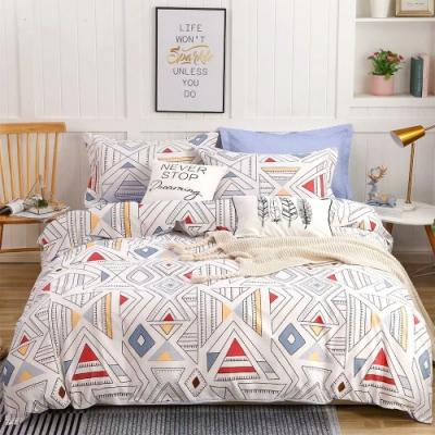 A-ONE 雪紡棉 雙人加大床包/枕套 三件組-藝想時光