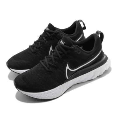 Nike 慢跑鞋 React Infinity Run 女鞋 輕量 透氣 舒適 避震 路跑 運動 黑 白 CT2423002