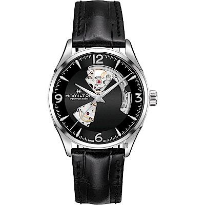 Hamilton 漢米爾頓 JAZZMASTER 爵士開心機械錶-黑/42mm