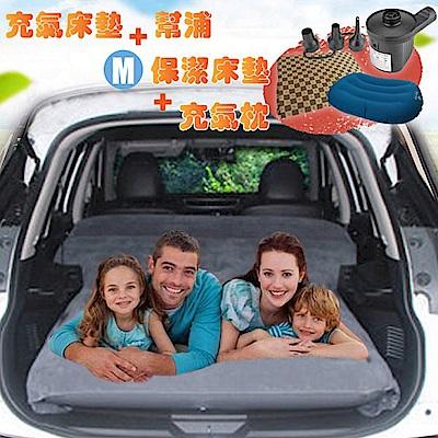 Camping Ace 二代升級-快充式植絨充氣床墊+保潔床包M+2用幫浦+充氣枕
