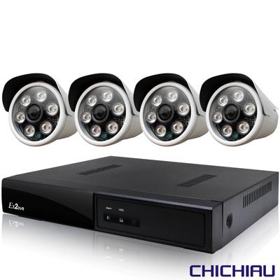 奇巧 4路五合一 5MP台製數位監控主機-含四合一SONY 200萬攝影機x4