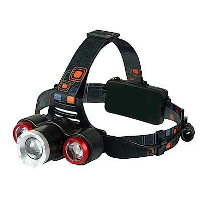 KINYO 超亮三燈頭LED旋轉頭燈(LED-715)可達500公尺