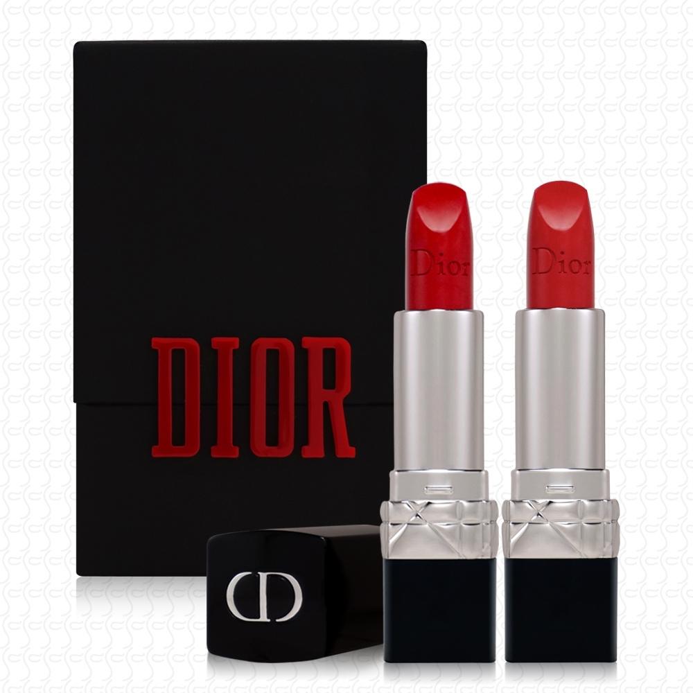 Dior迪奧 迷你藍星唇盒&唇膏組(1.5g*2)(#999)