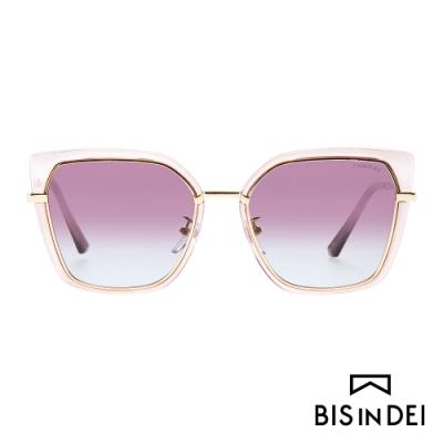 BIS IN DEI 不低調個性方框太陽眼鏡-粉