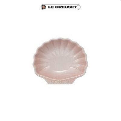 [任4件6折] LE CREUSET 瓷器貝殼盤(小)(貝殼粉)