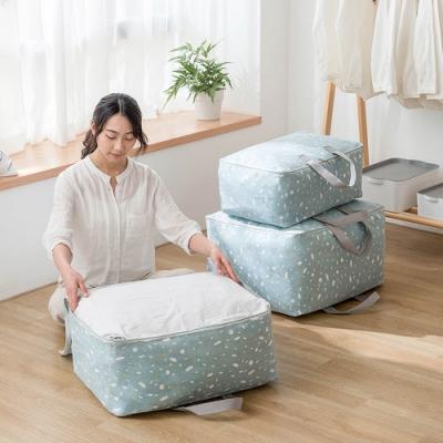 E.City_(4入)棉麻文青風大容量衣物棉被萬用收納袋