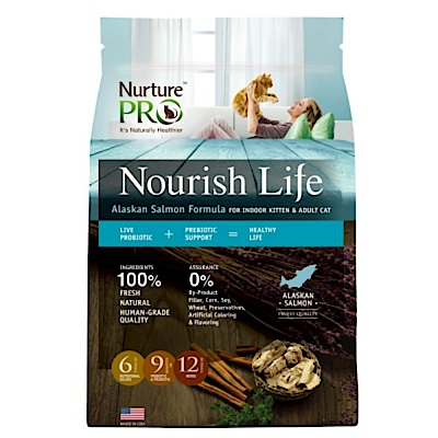 美國Nurture PRO 天然密碼 阿拉斯加鮭魚室內小貓&成貓配方5.7kg+贈抓板睡窩