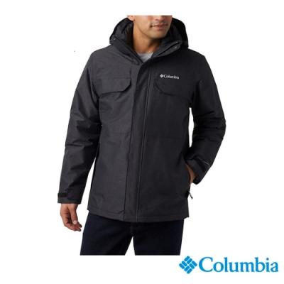 Columbia 哥倫比亞 男款- Omni TECH防水鋁點保暖外套-黑色