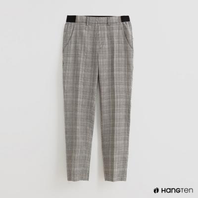 Hang Ten - 女裝 - 附腰帶千鳥格紋休閒長褲 - 灰