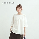 【MOSS CLUB】設計寬領氣質素面-襯衫(二色)