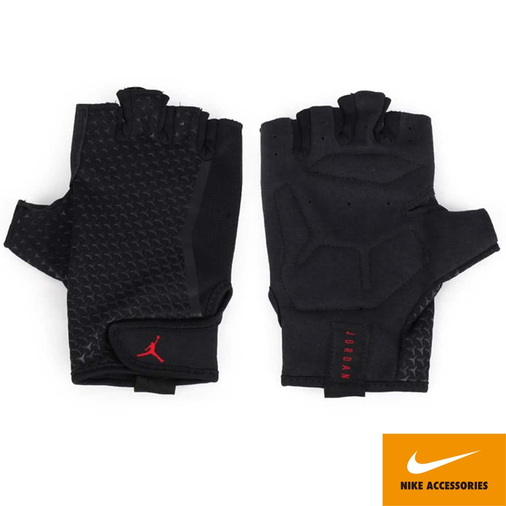 NIKE 手套  JORDAN 訓練重訓 健身 半指手套 黑 J0001945034