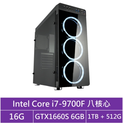 華碩B365平台[獸神戰士]i7八核GTX1660S獨顯電玩機