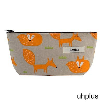 uhplus Q-plus萬用收納包- 小狐狸(灰橘)