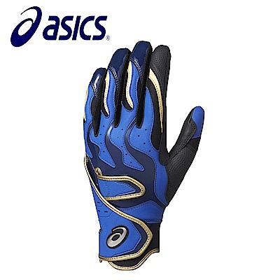 Asics 亞瑟士 打擊手套 一雙 黑藍 BEG270-9043