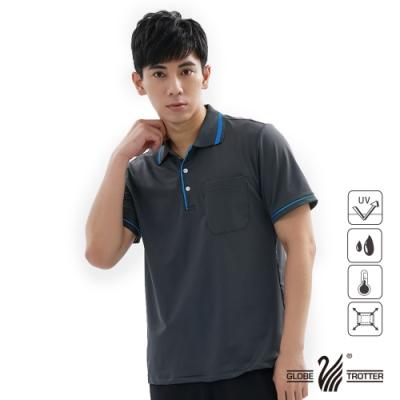 【遊遍天下】MIT男款吸濕排汗抗UV機能POLO衫GS1001深灰藍