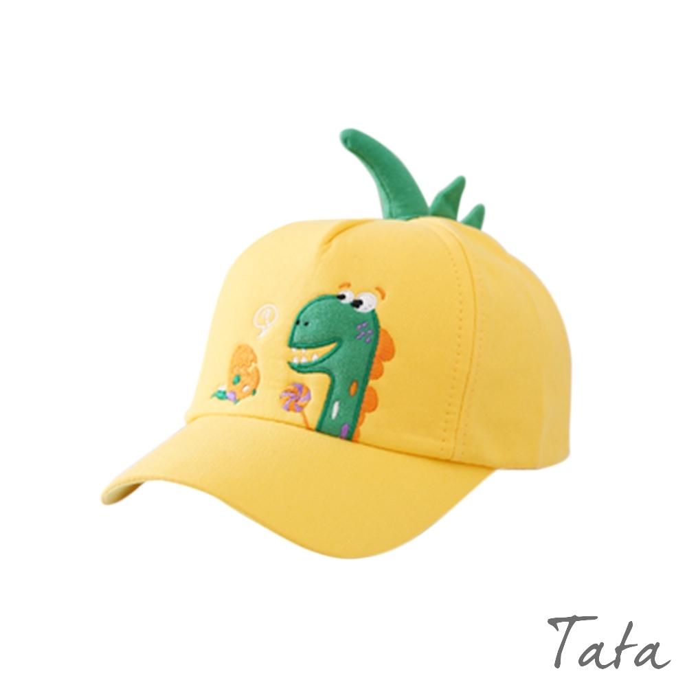 童裝  恐龍刺繡立體角造型鴨舌帽 共二色 TATA KIDS