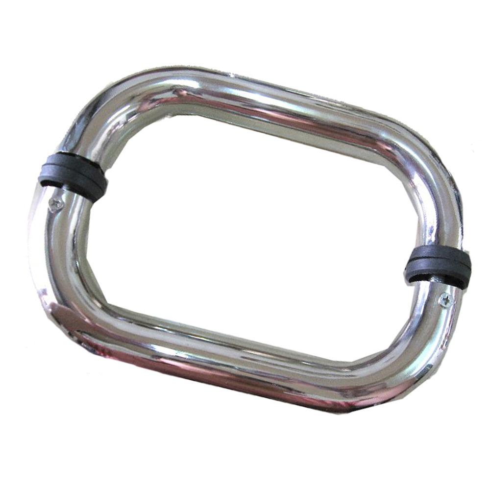 ID008 單彎把手 24cm 白鐵色 二折把手 玻璃門把手 不鏽鋼把手 白鐵把手 玻璃門