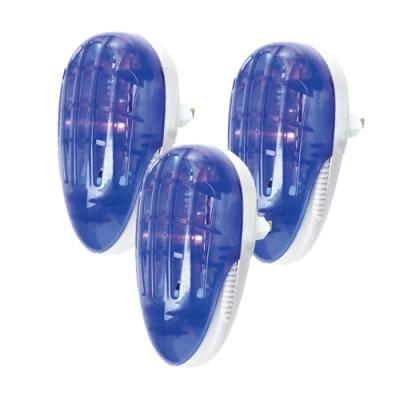 (3入組)KINYO 1.5W電擊式捕蚊燈/小夜燈(AB-200)蚊蟲剋星