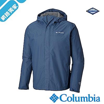 Columbia哥倫比亞 男-Omni-Tech防水透氣外套-墨藍UWE12400