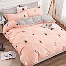 戀家小舖 / 單人床包枕套組 小森林 100%精梳純棉