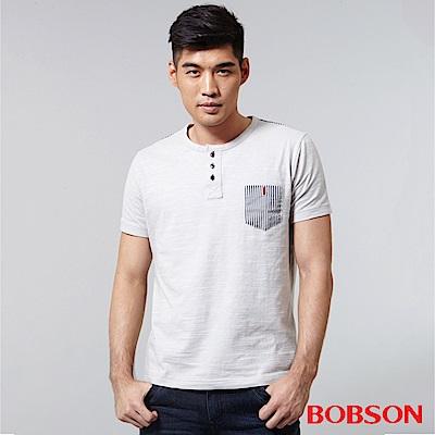 BOBSON 男款配條紋上衣