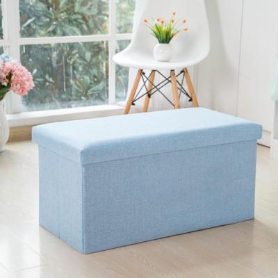 創意居家大容量摺疊收納儲物椅(大款)