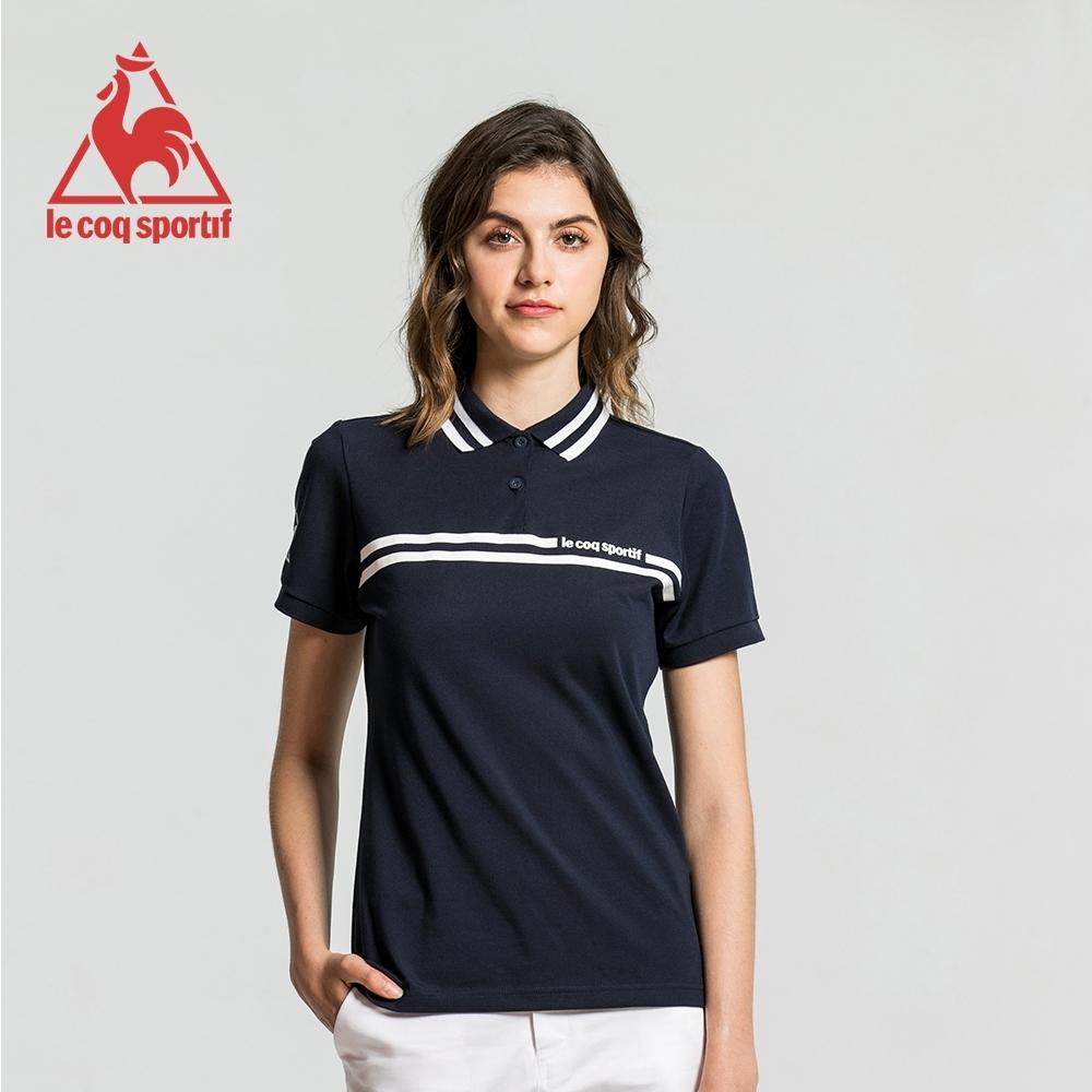 法國公雞牌短袖POLO衫 LWJ2314239-女-藏青