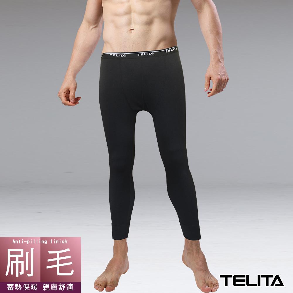 刷毛蓄熱保暖長褲/衛生褲-黑 TELITA