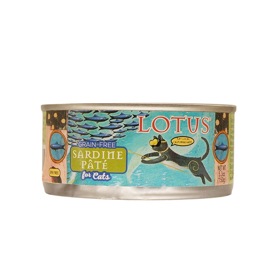 LOTUS樂特斯 慢燉無穀主食罐沙丁魚 全貓配方 150G-24件組
