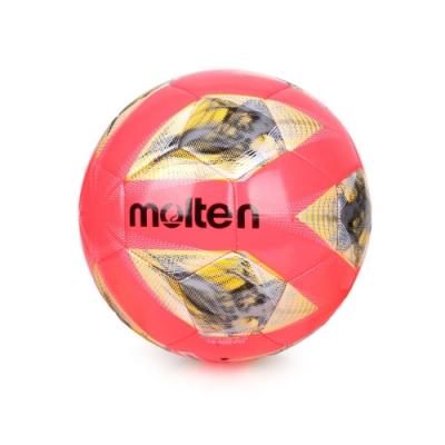 MOLTEN #5合成皮足球-訓練 5號球 F5A2000-RY 螢光粉黃銀