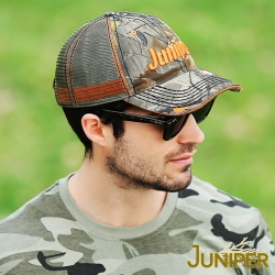 JUNIPER 超大頭圍防曬迷彩運動網帽遮陽鴨舌卡車帽