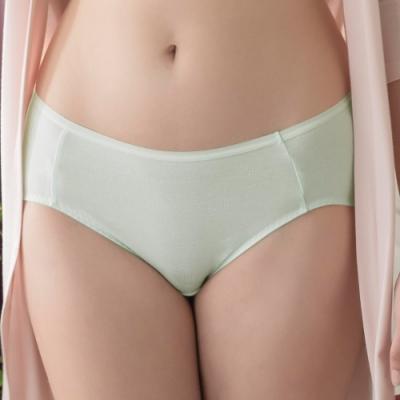 華歌爾-冰咖啡 M-3L 中低腰內褲(綠)I-earth 環保-冰涼透氣