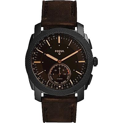 Fossil Q Machine Hybrid 智慧型手錶-黑/44mm FTW1163