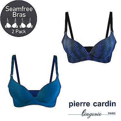 【Pierre Cardin皮爾卡登】一片式立體無鋼圈內衣(水波藍&湖晴藍)