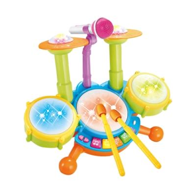 JoyNa-兒童音樂鼓 電動燈光玩具爵士鼓 寶寶早教益智架子鼓