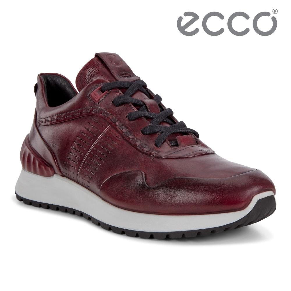 ECCO ASTIR 雅躍型男運動休閒鞋 男鞋 深酒红
