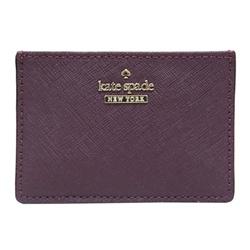 Kate spade card holder 防刮牛皮證件/名片夾-深紫紅