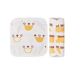 baby童衣 純棉紗布安全帶保護套口水巾兩入組 60332